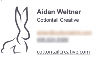 New Email Signature for my Cottontail Creative email