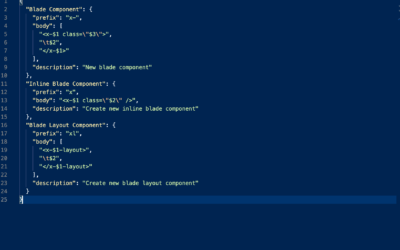 New snippets for Laravel 8 Blade Components